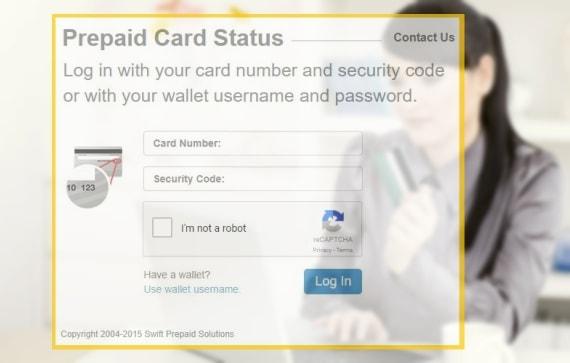 Prepaidcardstatus login details